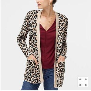 J.Crew leopard open cardigan